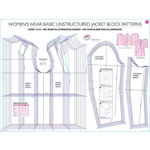 Womens Unstructured Jacket Block Pattern 1